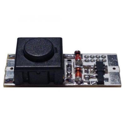 vypínač s tlačítkem a stmívačem do lišty max. 60W/12V - 25mm