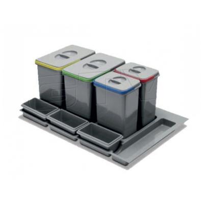 Koš odp.MULTINO do zásuvky 900 4-koš 2x15l+2x7l šedý