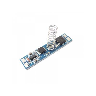 vypínač dotykový se stmívačem, lokální detekce,modrá dioda do lišty max. 96W/12V