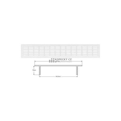 mřížka 008 001 větrací 610x80mm Al (bal 10ks)