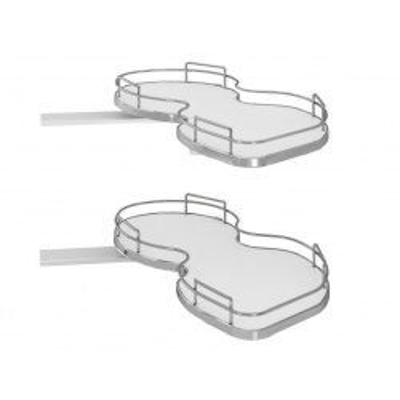 Ledvinka rohová SIGE 371SX 900/450mm Cr L pár