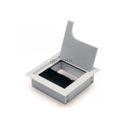 průchodka 80x80 hranatá kovová Al/černý Elox (bal 30)